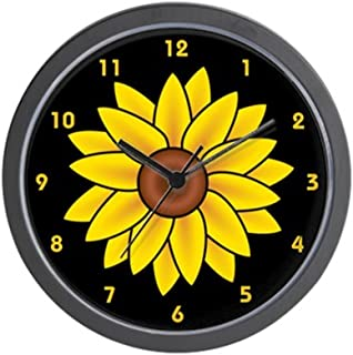 CafePress Sunflower Wall Clock Unique Decorative 10