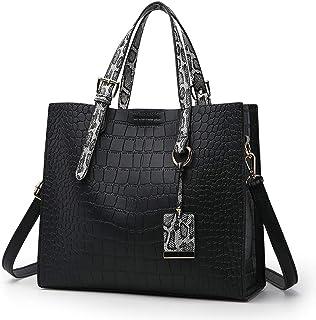 Damen-Handtasche, Krokodil-Muster, Schlangenleder-Optik, Handtasche, Schultertasche