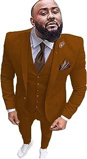 Men's Slim Fit Suits 3 Piece Tuxedo Jacket Pants & Vest Prom Wedding Blazer