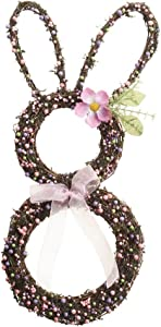 Easter Bunny Grapevine Wreath Pastel Berries Floral Spring Home Door Wall Decor