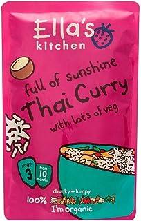 Ella's Kitchen Organic Full of Sunshine Thai Curry with Lots of Veg 10mth+ (190g) エラのキッチンベジタリアン10Mthの+の多くが付いている太陽の光のタイカレーの有機フル( 190グラム)