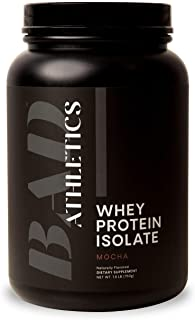 Bad Athletics Grass Fed 100% Whey Protein for Women, Mocha - Five Ingredients, 20g of Protein, Naturally Flavored & Sweete...