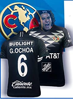 Soccer New Club America Black Negra Jersey Ochoa Men Regular Fit 2019-2020