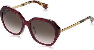 Kate Spade Women's Kaysie/f/s Oval Sunglasses, Burg HAVN, 56 mm