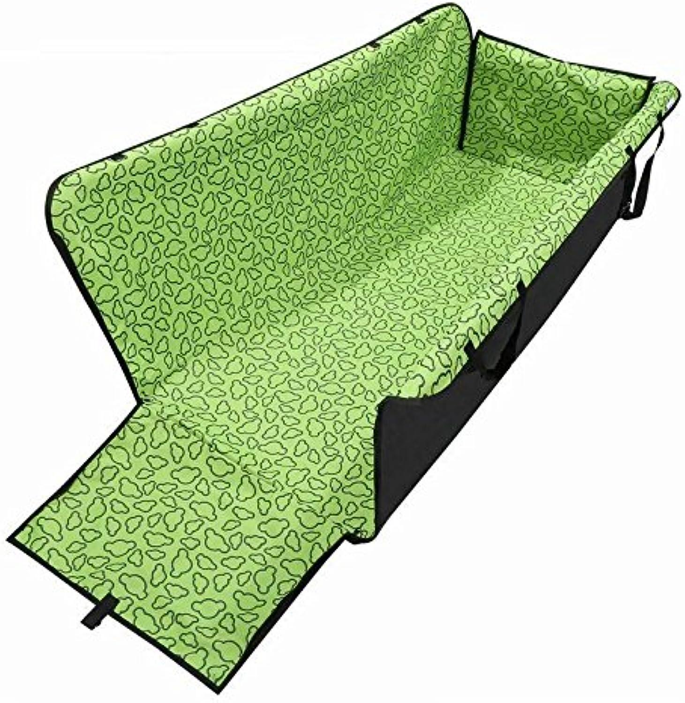 DINKANUR Pet Mat for car Scratch Pad Waterproof Car Rear Seat Cushion Hanging Predector Pet Dog Cat Safe Travel Carrier (Green)