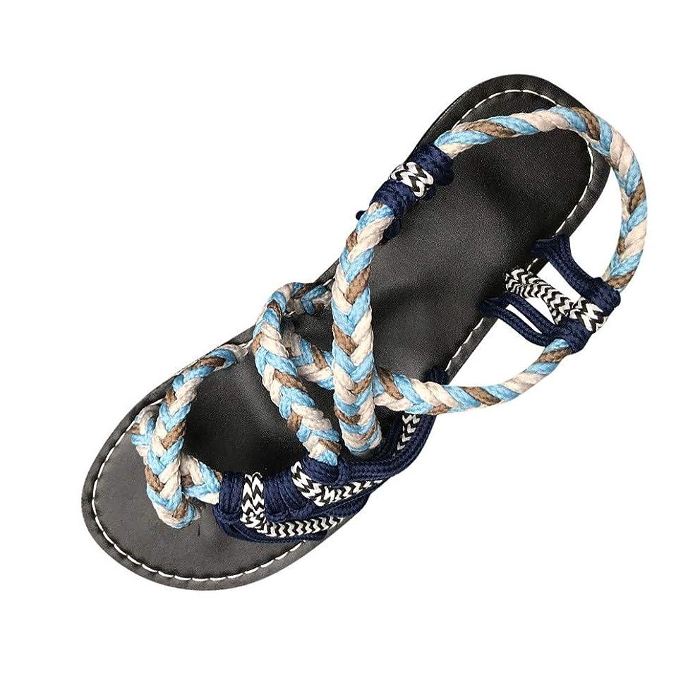 Ballad Women Comfortable Flats Hemp Rope Flip Flops Summer Fashion Roman Beach Shoes Casual Slippers