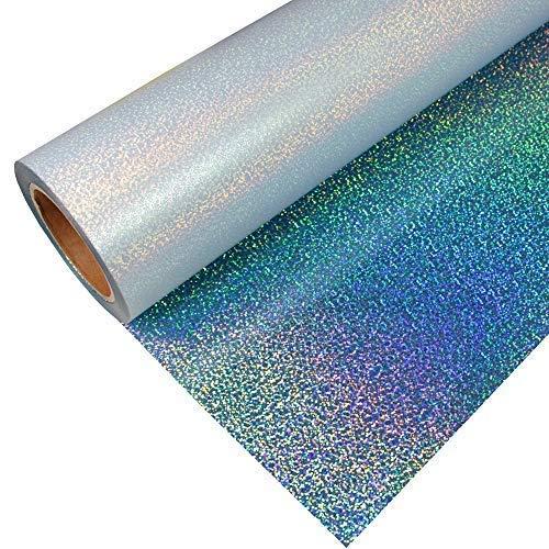 Stahls® 16,38€/m² CAD-CUT® Effect Textilfolie 905 Sparkle Light Blue 50cm x 1m Flexfolie Bügelfolie Flex Folie