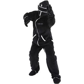 BIBILAB (ビビラボ) 冬のダメ着 人型寝袋 フリース キッズ EH-BLACK-K ニュータイプ着る毛布 旧モデル