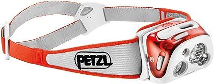 (One Size, Orange) - Petzl Reactik + Compact Rechargeable and Intelligent Reactive Lighting Head Lamp
