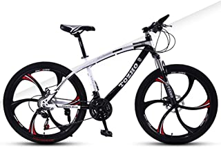 AP.DISHU 30 Speed Child Mountain Bike Double Disc Brake Bicycle Front Suspension High Carbon Steel MTB 24 Inch Wheel,Black