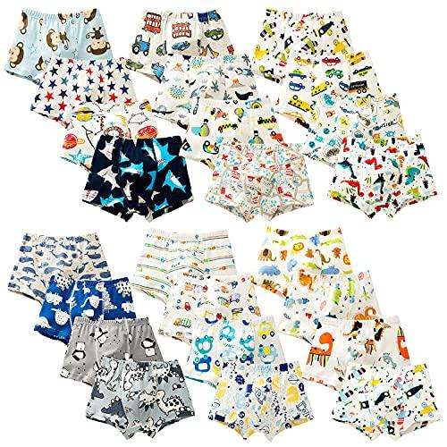 BLOMDES Calzoncillos tipo bóxer para niño, 100 % algodón, paquete de 6 unidades, para niños de 2 a 12 años Boxer aleatorio 2 años