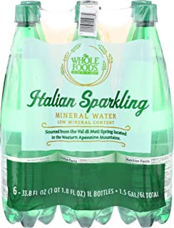 Whole Foods Market, Italian Sparkling Mineral Water, 6 count