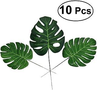 comprar comparacion WINOMO hojas de Palma artificiales - planta artificial para decoración de fiesta Luau hawaiano playa fiesta temática 10pcs...