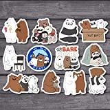 12Pcs/Lot American Anime We Bare Bears Sticker Decal for Car Laptop Fridge Backpack Notebook Waterproof Decal Stickers