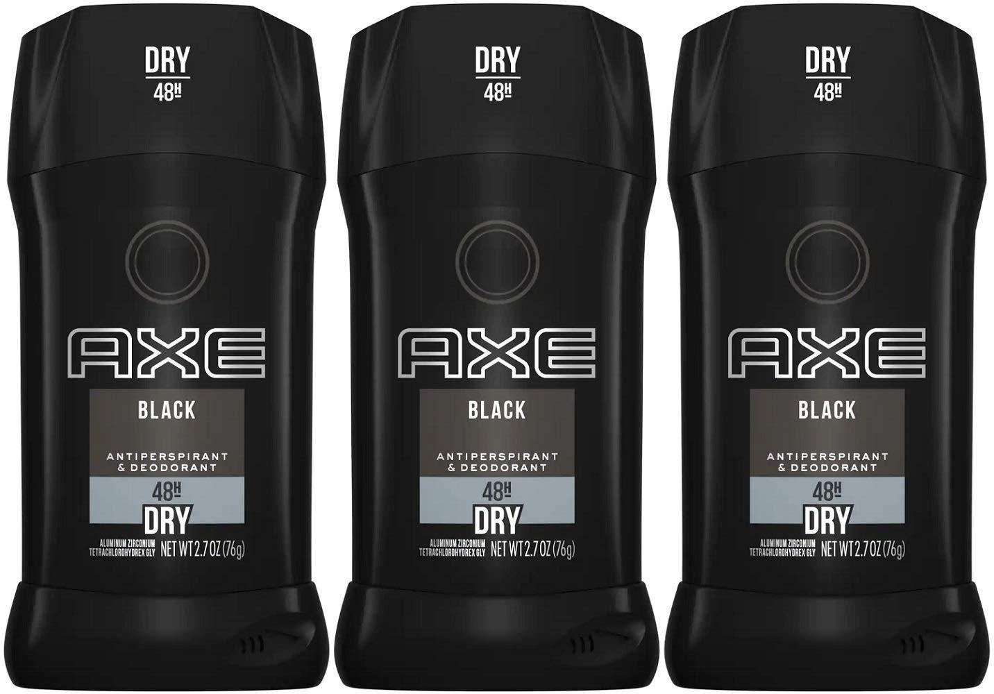Axe Black Antiperspirant Deodorants Arlington Mall Max 64% OFF Stick Pack 3 of 2.7 Ounce