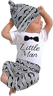 لباس کودک 3Pcs لباس پسرانه لباس مردانه جدید چاپ لباس سکسی Summe پنبه آستین کوتاه پنبه سبیل + آستین کوتاه + لباس