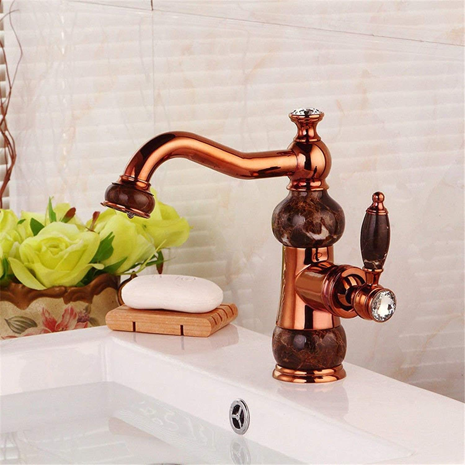 HUAIX home Sink Mixer Tap Bathroom Kitchen Basin Tap Leakproof Save Water Rise Antique Style