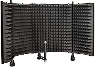 "Monoprice Microphone Isolation Shield – Black – Foldable With 3/8"" Mic.."