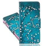 IMEIKONST Caso para Redmi Note 10 4G, PU Cuero Flip diseñado Case Libro Style Tarjeta Poseedor Estar Billetera Magnetic Antigolpes Funda para Redmi Note 10 4G. Blue Apricot BBK