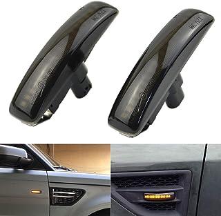 2 قطعة Dunxunn دخن ديناميكي Blinker LED الحاجز الجانبي إشارة الانعطاف ضوء متوافق مع Land Rover Discovery Freeland Range Ro...