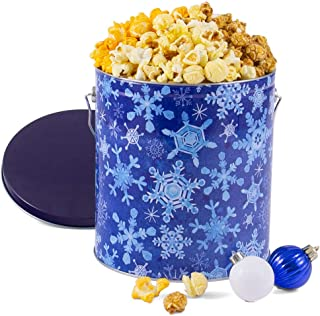 GourmetGiftBaskets.com Winter Wonderland Popcorn Tin (People's Choice Mix)