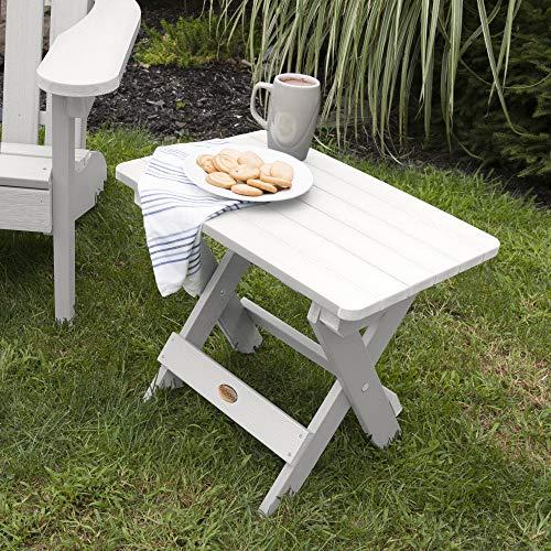 Highwood Folding Adirondack Side Table, White
