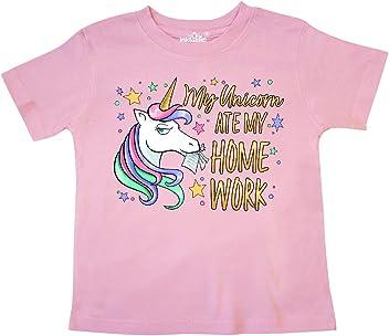 inktastic My Unicorn Ate My Homework Toddler T-Shirt