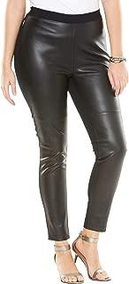 Women's Plus Size Faux-Leather Legging