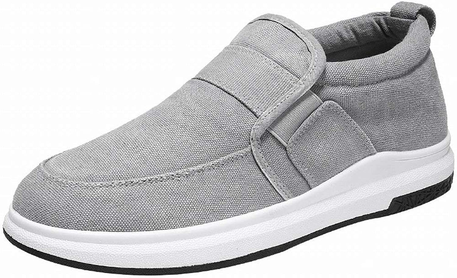 Fuxitoggo Fashion Canvas shoes Comfortable Breathable Casual shoes Slip Wear Men shoes All-match tide shoes (color   Grey, Size   42)
