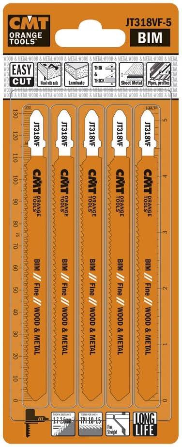CMT JT318VF-5 Bimetal Max 81% OFF 8% Cobalt Jig Saw and Blade for Wood Metal Time sale