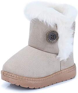 3d1b79541b695 Fille Garçon Chaussures Bottes d hiver Bébé Enfant Bottines Mode de Neige  avec Doublure Chaud