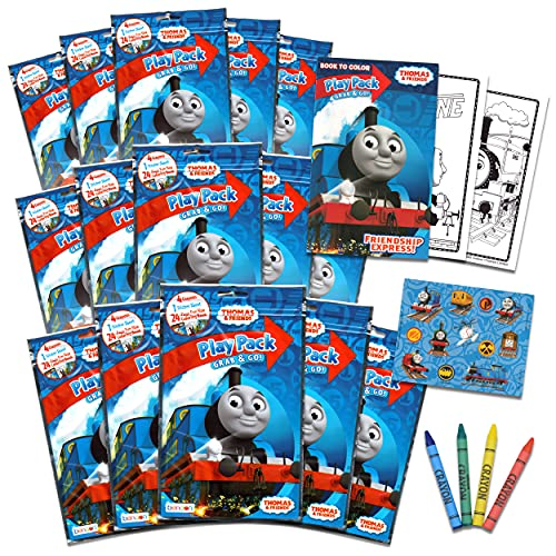 Bendon Set of 15 Kids Play Packs Bundle ~ Fun Party Favors Coloring Book Crayons Stickers (Thomas and Friends)