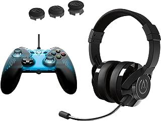 PowerA Spectra Illuminated Controller & Analog Caps with Universal Fusion Gaming Headset Kit - Xbox One