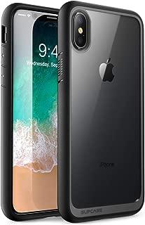 iPhone Xs Max 手机壳,SUPCASE [独角兽甲壳样式] 优质混合保护透明手机壳适用于 iPhone Xs Max 6.5 英寸 2018SUP-iPhoneMax-6.5-UBStyle-Black 黑色