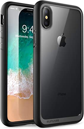 Supcase SUP-iPhoneX-UBStyle-Navy - iPhone X Funda,Aplicable con iPhone XS.Apple iPhone 10 [Unicorn Beetle Style] Premium Hybrid Protector Transparente Bumper [Resistente a los Rayones] para Apple iPhone X / iPhone 10 2017, Negro