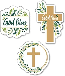 Big Dot of Happiness Elegant Cross - DIY Shaped Religious Party Cut-Outs - 24 Count