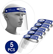 5-Pack Rush Deer Face Shield,Adjustable Anti-Fog Dental Full Face Shield with Protective..