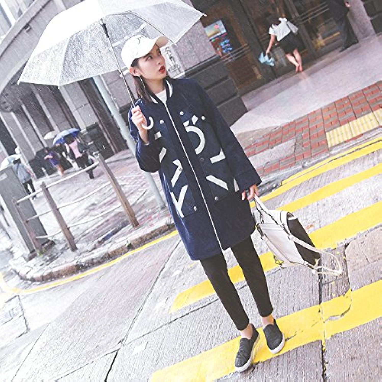 XuankuBei Den Frauen Lange Baseball Uniform Cowboy Sleeved Wind Jacket
