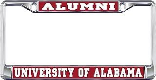 University of Alabama Alumni Crimson Tide Silver Metal License Plate Frame
