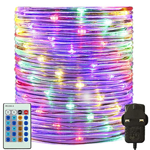 RcStarry 50M/165FT 500 LED Dia 3MM Rope/Wire Lights Multicolor, Dimmable Indoor/Outdoor IP65 Waterproof Fairy Lights Plug in with Remote for Garden, Patio, Deck, Landscape Lighting, Bedroom and More