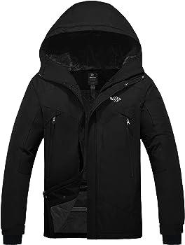 Wantdo Men's Windproof Ski Fleece Jacket