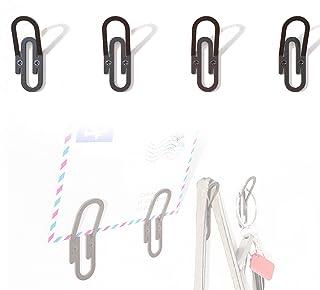 Portemanteau mural pour vêtements et accessoires. Design original en forme de clip (4 pièces).