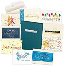 Anniversary Cards Assortment Box (35 Greeting Cards) - with Foil and Embossing (Anniversary Employee)