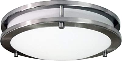 Modern 3-Light Flush Mount Steel Base and Alabaster Glass Globe - Brushed Nickel Finish