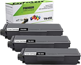 PayForLess Toner Cartridge TN650 TN-650 Black 3PK Compatible for Brother HL-5340d HL-5350dn HL-5370dw DCP-8085dn DCP-8080dn MFC-8480dn MFC-8890dw MFC-8680dn MFC-8690dw