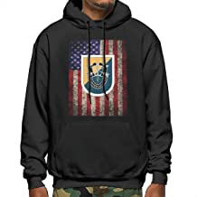 HAIGEchang US Army 8th Special Forces Group Men's Hoodie Pullover Hoodie Fleece Hoodie Sweatshirt