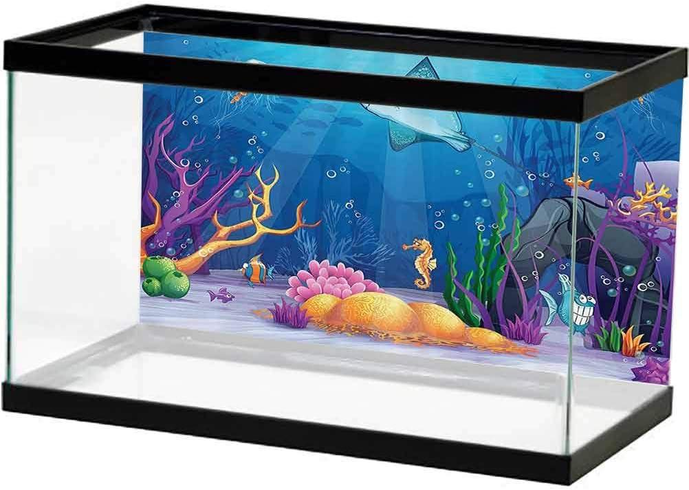 Ocean Decor PVC Aquarium Background Factory outlet Shell Moss Fish Navy Sealife 40% OFF Cheap Sale