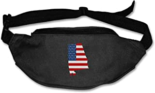 Eden Edies Alabama State Map Shape The USA Flag Unisex Waist Pack Bag Belt