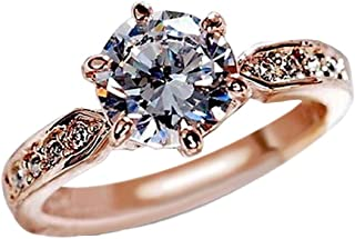 Uscharm Happy Valentines Day Promise Rings Eight Heart Rings Eight Arrows Rings Zircon Engagement Ring