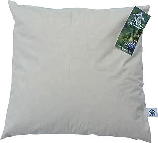 Myzirbe tallkudde kudde sovande kudde fylld med stenflingor 100% Alperna Zirbenholz storlek: 40 x 40 cm